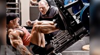 Neil Hill motivating and training Flex Lewis