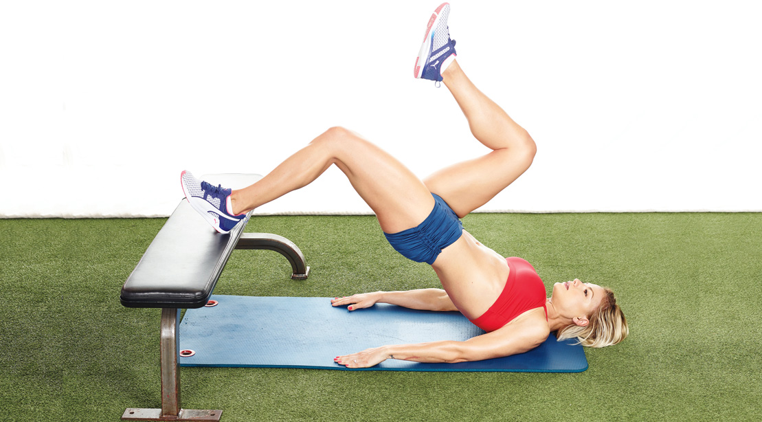 Elevated Glute Bridge Exercise for a Better Butt