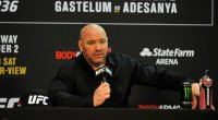 UFC President Dana White conducts a post game press conference after the UFC 236 event at State Farm Arena on April 13, 2019 in Atlanta, Georgia.