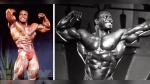Lee Haney Poses Onstage at the NPC Nationals in 1982 and Olympia in 1991