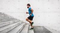Man Running Steps