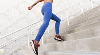 Woman Running Up Stairs Workout