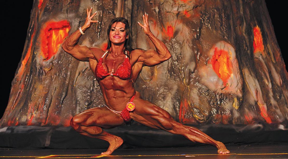 Bodybuilder Helle Trevino Gets Her Wings