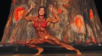 Bodybuilder Helle Trevino Gets Her Wings