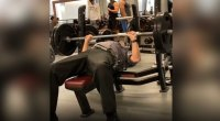 75-Year-Old Security Guard Hits 180-Pound Bench Press for Reps