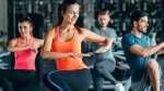Female-Aerobic-Exercise-Knee-Lift