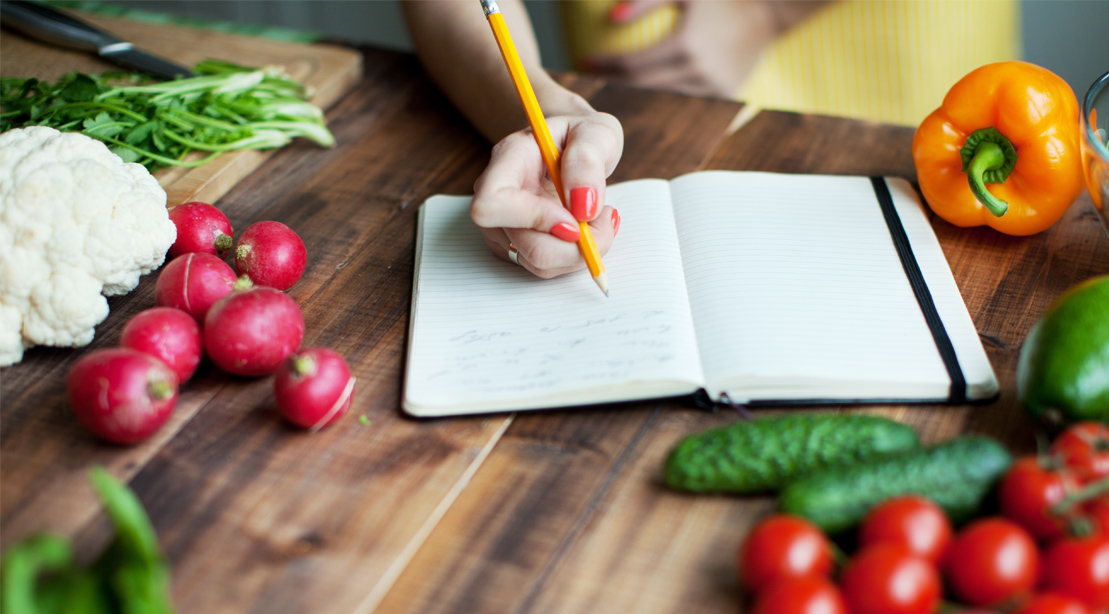 Food meal journal notebook