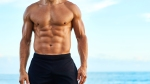 Man on the Beach With Good Abs