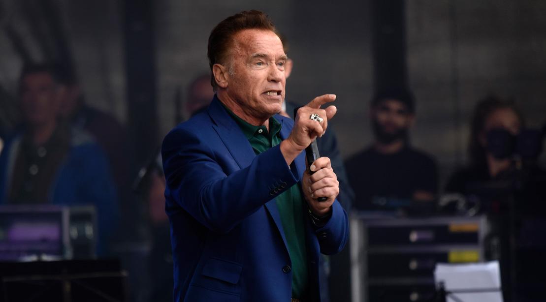 Arnold Schwarzenegger Speaks at a Summit on Sustainability