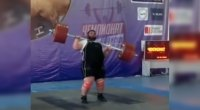 Watch: Olympic Lifter Struggles to Complete Clean & Jerk