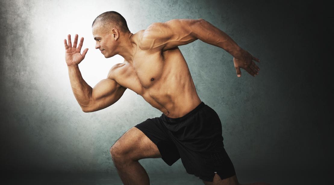 Bodybuilder-running-pose