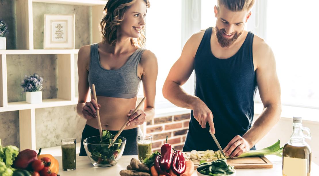 Couple-Making-Salad