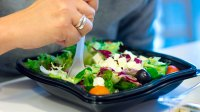Eating-Salad-Plastic-Container