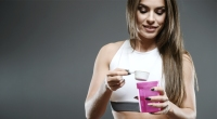 Female-Fitness-Pouring-Protein-Shaker