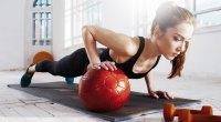 Female-Medicine-Ball-Pushup
