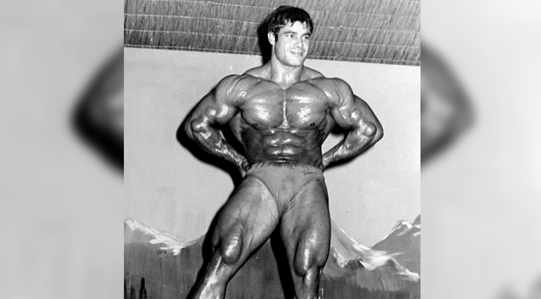 Legendary Professional Bodybuilder Franco Columbo posing and competing in a bodybuilding competition