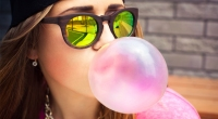Girl-Blowing-Bubble-Gum