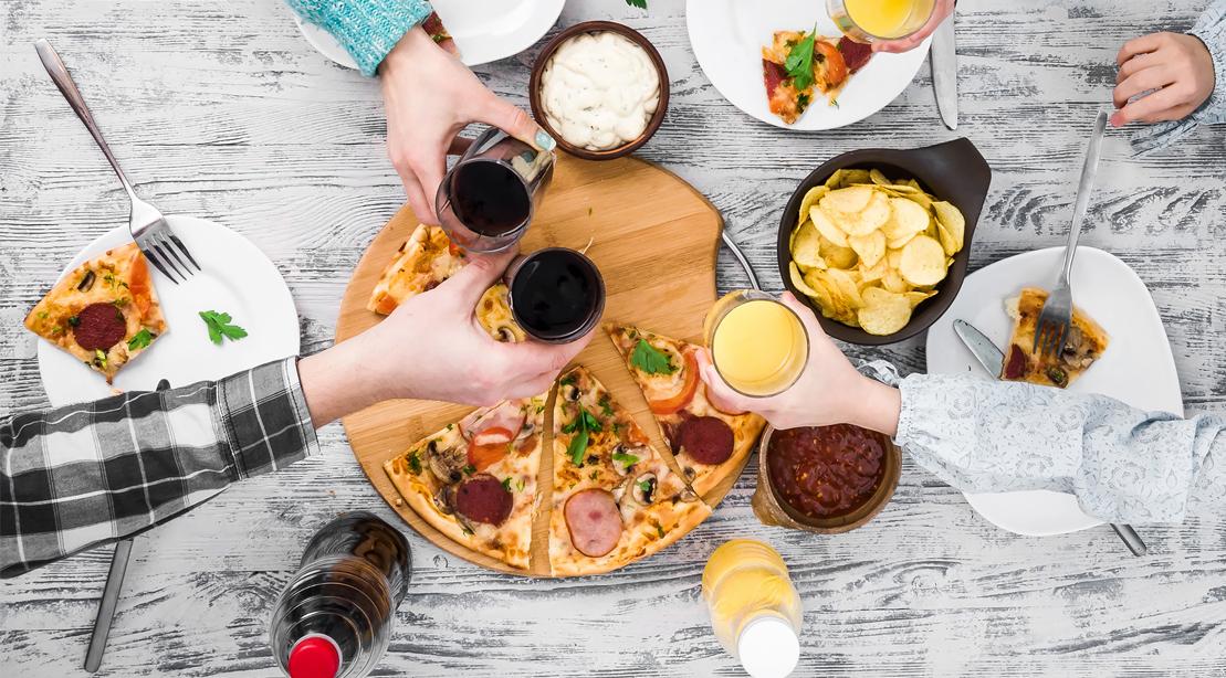 Junk-Food-Spread-Table