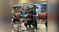 Japanese Weightlifter Lives up to his Nickname, 'The Tank'