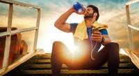 Man-Drinking-Water-Hydration-Sunset