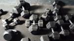 Many-Dumbbells-On-Floor-Messy-Dumbbells