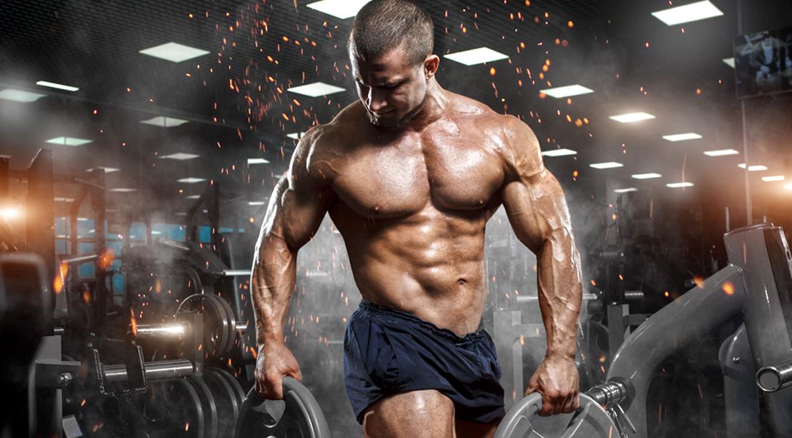 Muscular-Bodybuilder-Lifting-Plates