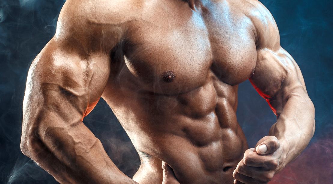 Muscular-Bodybuilder-Posing-Bicep-Muscle