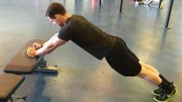 fists on bench triceps extension