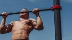 Man Performing a Pullup