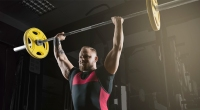 Powerlifter-Doing-Barbell-Overhead-Press