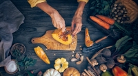 Cooking-With-Fall-Ingredients-On-Wood-Table