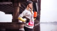 Girl-In-Heavy-Layered-Sweats-Drinking-Protein-Shake