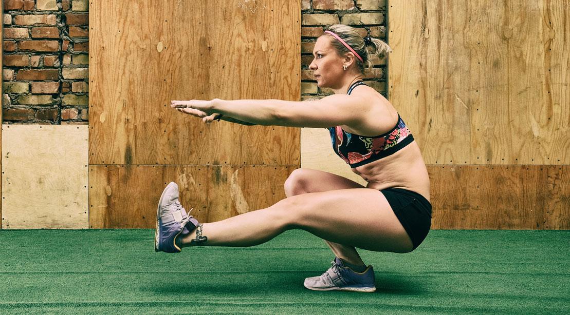 Woman Doing One-Leg Pistol Squats