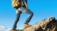Man-In-Work-Boots-And-Jeans-Hiking