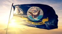 United-States-Navy-Flag-In-Sunrise
