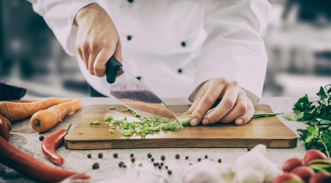 Chef-Chopping-Scallions-Cutting-Board-Chef-Knife-Prep