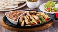 Chicken-Fajita-Green-Red-Peppers-Refried-Beans