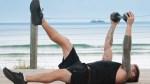 Luke-Zocchi-Dumbbell-Hold-Kick-Beach