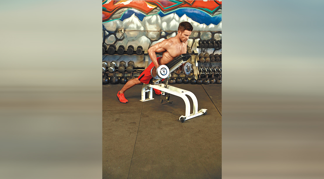 Supported Dumbbell Row