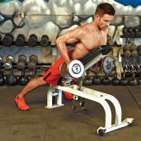 Supported-Dumbbell-Row