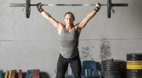 Athletic-Lifter-Crossfit-Barbell-Overhead-Press-Thrust