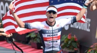 Iron-Man-Racer-Tim-ODonnell-Finish-Line-Carry-American-Flag