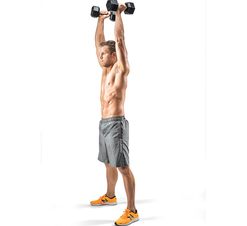 Dumbbell Burpee Clean and Press