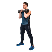 Don-Salidino-Performing-Kettlebell-Front-Squat-Step-one