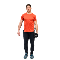 Don-Salidino-Performing-One-Arm-Dumbbell-Lateral-Raise-Exercise-Step-One