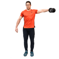 Don-Salidino-Performing-One-Arm-Dumbbell-Lateral-Raise-Exercise-Step-Two
