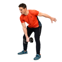 Don-Salidino-Performing-Dumbbell-Snatch-Exercise-Step-One