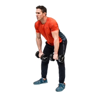 Don-Salidino-Performing-Dumbbell-Power-Clean-Exercise-Step-One