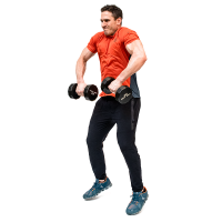 Don-Salidino-Performing-Dumbbell-Power-Clean-Exercise-Step-Two