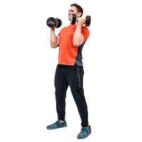 Don-Salidino-Performing-Dumbbell-Power-Clean-Exercise-Step-Three
